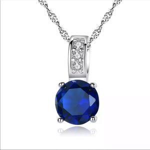 ❤️ Zirconia & Silver Necklace 1000000187